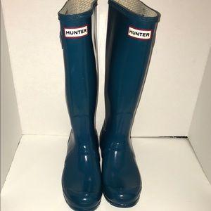 Hunter Knee High Tall Gloss Rubber Rain Boots